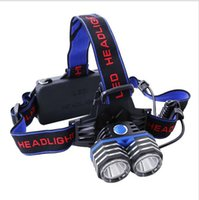 Wholesale Super bright LM X XM L T6 LED Rechargeable Headlamp Headlight Zoomable Waterproof Flashlight For Hunting Camping flashlight