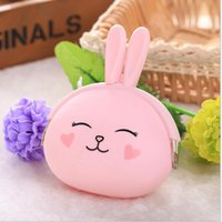 animal sports bags - 5 Female Mini Cartoon Purse Silicone Coin Bag Case Soft Fastener Japanese Candy Color Lovely Animals