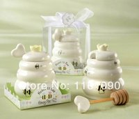 baby to bee - factory price meant to bee quot ceramic bee honey pot wedding party favors baby shower return gifts