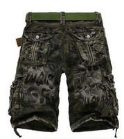 Wholesale hot sale Cargo Shorts Loose Hiking Men s shorts Multi Pocket Men s sport Short Camouflage Outdoor bermuda masculina Tactical HMH0005