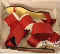 ballerina boots - Red Black Beige Bowtie Ballerinas Flats Rouge Soft Leather Women Flats Summer Style Ankle Women Sandals Boots Shoes Woman