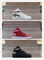 Wholesale New Famous AF1 high Sports SkateBoard shoes Black Red White AF1 Women Men Running Shoes High Quality Size