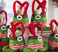 achat en gros de bottes de noël-Elf Spirit Boots Chaussures Sac Candy Santa Pants Sac Cadeau Stocking Filler Sac Fourre-tout Noël Décorations Noël Natal