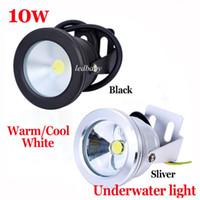 Wholesale 1Year Warranty Aluminum Led lights LED Underwater Light LED W V Aquarium Fountain Pool Lamp light IP68 Waterproof Warm cool white lights