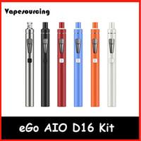 bf blue - Original Joytech eGo AIO D16 Kit ml atomizer BF SS316 ohm cois mAh Battery Authentic joyetech eGo AIO D16 ecigarette in stock