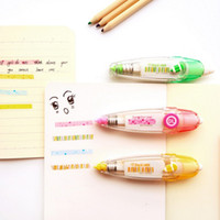 Wholesale Creative Candy Color Striped And Dots Decorative Correction Tape Correction Fluid School Office Supply