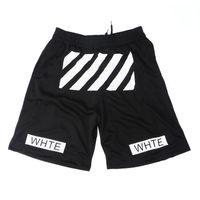 Wholesale Men summer hip hop off white shorts breathable outdoor sport basketball shorts men s hba sweat short pants boardshorts bermuda