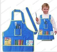 Wholesale children s painting apron pockets waterproof Baby Bib Apron sleeveless smock