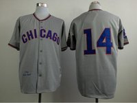 Wholesale Chicago Cubs Ernie Banks Jersey SIze S XXXL Women Men Throwback Embroidery Grey Wool Flannel