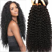 best black skin - 100 Real Hair Best Hot Sale kINKY Curly Wavy Human Women Hair Cheap High Quality Nice Hair Extensions Hair Shade Brazil Black Hair Nigerial
