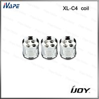 atomizer lighting - iJoy Limitless XL C4 Light up Chip Coil ohm Relacement Coils Heads With Light for Limitless XL Atomizer Original