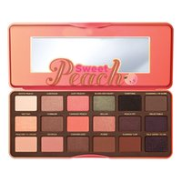 Wholesale Sweet Peach Palette Eye Shadow Limited Edition Collection Faced Eyeshadow Eye Makeup Peachy Pinks Corals Eyeshadow Palette