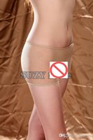 Wholesale Sexy Flesh Colour Unisex Men and Women Transparent Brief Shorts Sheer Unisex Thin Pantyhose Underwear Boxer Trunks