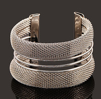 alloy metal wire - New Hot Fashion Fine Jewelry Bohemian Style Pure Metal wire Pierced K Gold Plated Silver Bracelets Bangles For Women