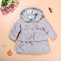 Girl baby girl pea coats - Retail Kids Hooded Double breasted Wear Pea Coat Girls Worsted Coat Girls Coat Breasted Coat Kids Coat Children Coat Baby Coat