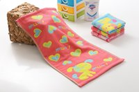 Wholesale Package three layers of gauze and thick gauze child towel jacquard cute cartoon baby towel g children s towel cm baby towel soft baby