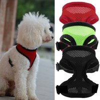 bell bone china - New Fashion Colors Nylon Pet Mesh dog Harness Strap Vest Collar For Small Medium sized Dog leads Puppy Comfort Harness