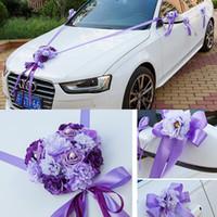 Cheap Wedding Car Ribbon Married Car Decorations Bridal Car Decoration Wedding Car Flowers Set Car Decoration Ideas