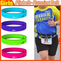 Wholesale FlipBelt Zipper The World s Best Fitness and Running Belt Black Pink Green Purple Size S M L Fitness Workout Cycling Belt fast ship