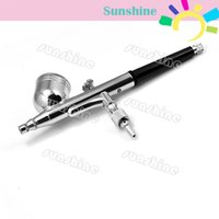 Wholesale New hot mm Spray DUAL ACTION Nail Airbrush Kit Gun Paint