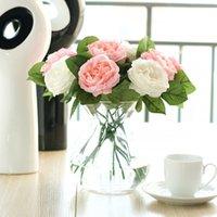Wholesale 12pcs Colors Artificial Rose Flowers Simulation Silk Floral Decoration for Wedding Party Garden Home Decorative Flowers
