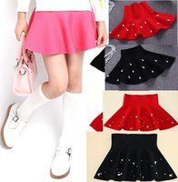 baby blouse design - 4 design Colors Pearl Fish Tail Classic School Teenage Kids Girl Skirt thread Knitted Solid color children girls BABY skirt