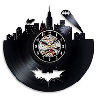 Vinyl Evolution best wall clocks - Batman Arkham City Logo Best Wall Clock Decorate your home with Modern Large Superhero Art