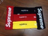 Wholesale supreme headband sweatband fleece headband