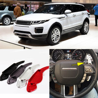 Wholesale 2pcs Brand New High Quality Alloy Add On Steering Wheel DSG Paddle Shifters Extension For Land Rover Evoque
