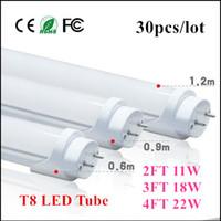 Wholesale 4ft W ft W ft W T8 FT Led Tube Lights Warm Cool White m m m AC V
