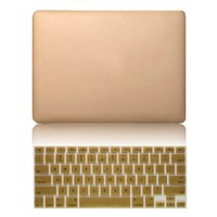 Wholesale Luxury Ultra Thin Gold Hard Matte Cases Free Membrane Keyboard Cover For Macbook Air Pro Pro Retina Sleeve
