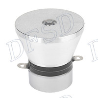 Wholesale Aluminum Alloy W KHz Ultrasonic Piezoelectric Transducer Cleaner Silvery