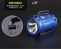 Venta al por menor solares Linternas 5W LED Tienda de campaña portátil Lámpara colgante Senderismo Pesca de la linterna de carga para su strechable móviles