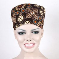Wholesale Fashion Hospital Printed Women s And Men s Surgical Cap Nurse Medical Caps Cotton One Size
