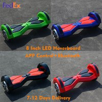 app green - Bluetooth Hoverboard Smart Balance Wheel Inch Safety testing Certification Electric Scooter With APP LED Light Multicolor