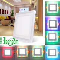architectural led lights - Ultrathin LED Panel Light Embeded Square W W W W AC110 V Colorful Light for Home Hotel Bathroom Architectural Lighting