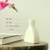 Wholesale Direct Deal New Type Glazed Ceramic Vase Tabletop Flower Pot Household china Environmental Protection Material Home Decor