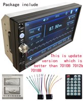 Wholesale 2 DIN Inch Car Radio Audio Stereo Player with Full Touch Screen HD Resolution Bluetooth