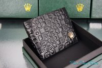 art dollar - R L X High Quality R Artistical Emboss Logo Cover Leather Fashion RX Dollar Wallet Hot Sale Package Box Pouch