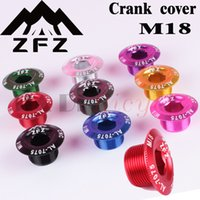 aluminum bmx cranks - Dental Plate Cover Crank Screw Cap M18 MTB Crankset Crank Cover Aluminum BMX nRoad Bike Fitting colors