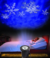 ac moving - Moving Snowflake Indoor outdoor LED Landscape Projector Light With Snowflake Moving Automatically wall Decoration Light IP67