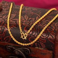 anniversary blessings - Fine New Solid K Yellow Gold Women Men s Bless Rope Link Necklace inch