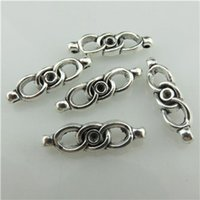 Wholesale 20236 X Vintage Silver Alloy mm Charms Connector Findings Fit mm Rhinestone