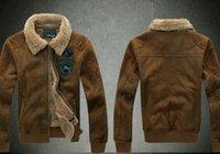 badge codes - Large code fur fur coat winter US Air Force pilots men coat badge leather jacket Kanye