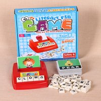 Wholesale Children s early education toys Figure Spelling English Game Platter Puzzle Flashcards Spell Words