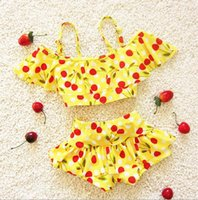 Wholesale 2016new fashion summer infant baby girl swimwear baby swimsuit printed binik toddler baby girl clothes two piece