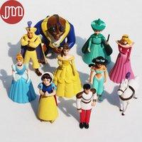 belle doll cake - New Princess Figures Cinderella Sofia Snow White Belle Asmine Aurora Tiger Tinker Kids Toy Anime Baby Dolls Cake Toppers