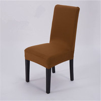 bar chairs white - High Stretch Spandex Chair Covers for Wedding Banquet Hotel Bar Home and Party Supplies White Red Black blue