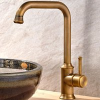 Wholesale Brass Sink Taps Luxury Single Handle Ceramic Plate Spool Basin Faucet for Bathroom and Kitchen Bronze
