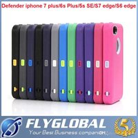 For Apple iPhone Plastic Customize Hybrid 3 layers TPU + PC 3 in 1 robot plastic Case for iphone 7 Plus iphone 6s plus 5S SE for galaxy S7 edge S6 Note 7 5 cell phone cases